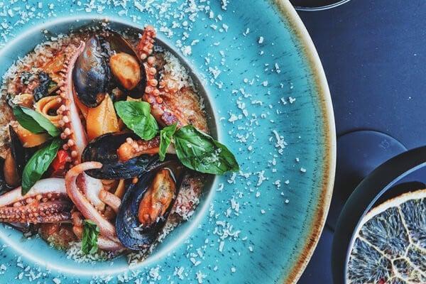Primi piatti con salse  di pesce